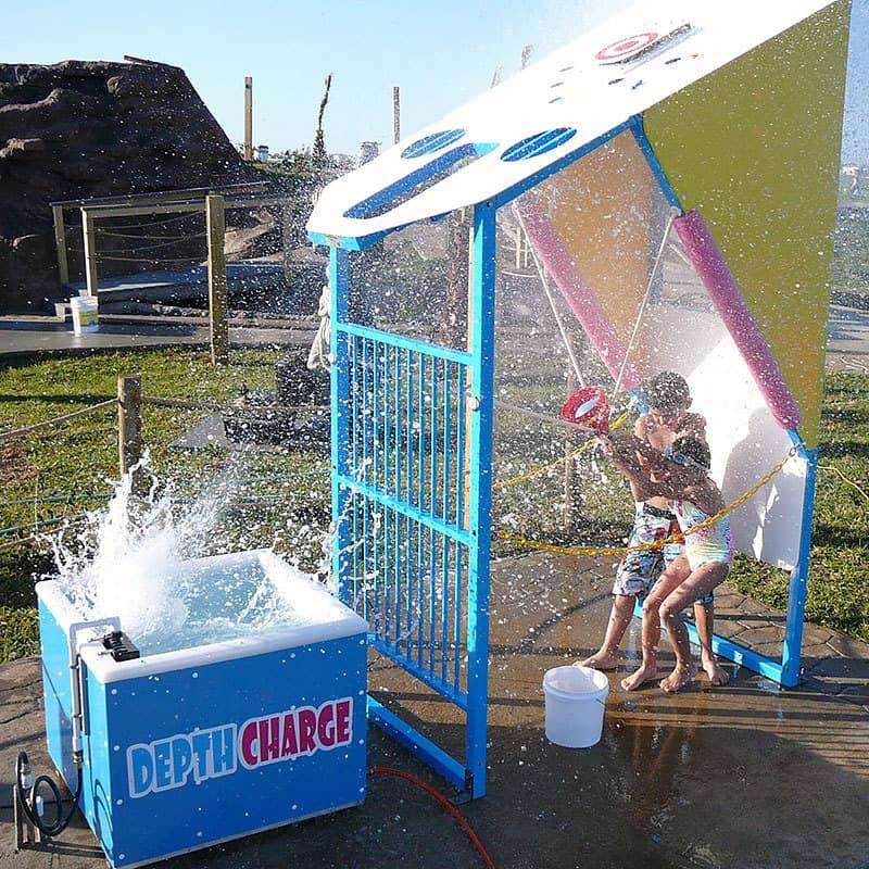 Water Wars Stationary Park Depth Charge in Action