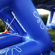Inflatable Water Wars at Adventure Valley