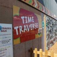 Time Traversing Outdoor Climbing Wall