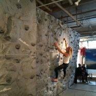 Traversing Indoor Climbing Wall