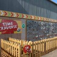Time Traversing Outdoor Climbing Wall